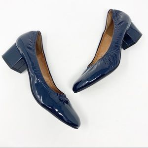 Jeffrey Campbell navy blue patent leather heels